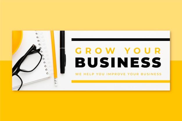 写真とテキストビジネスのfacebookカバー