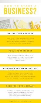 Фото и текст бизнес-инфографики