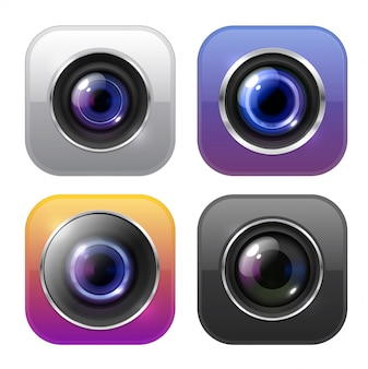 Значки фото и видеокамер, цифровые вывески