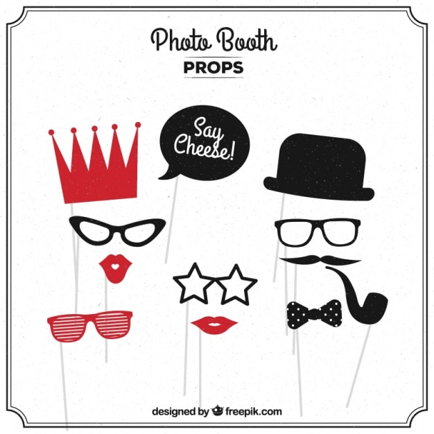 graphic relating to Free Printable Photo Booth Props Words referred to as Photograph Booth Props Vectors, Images and PSD data files Free of charge Down load