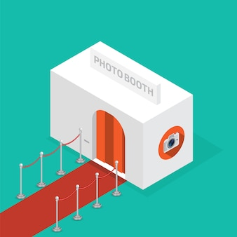 Photo booth isometric