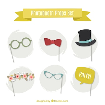 Photo booth props collection