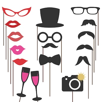Photo booth props for weddings