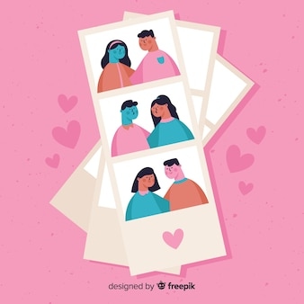 Photo booth valentine couple collection