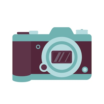 Photo camera icon a modern fashion accessory