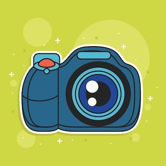 Photo camera media icon cartoon