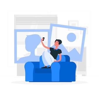 Photo concept illustration