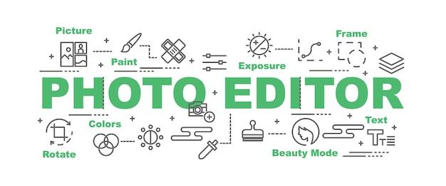 Photo editor vector banner