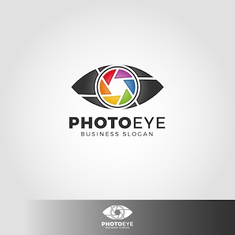 Photo eye logo template