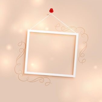 Photo frame background with floral decoration