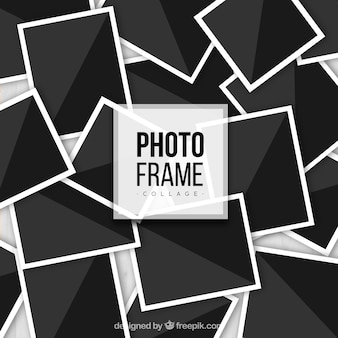 Photo frame collage in realistic style