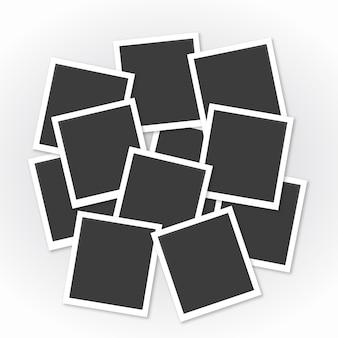 Коллаж фоторамки с плоским дизайном