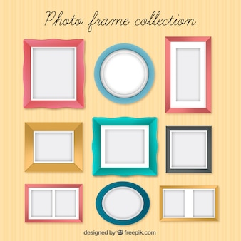 Photo frame collection in colors