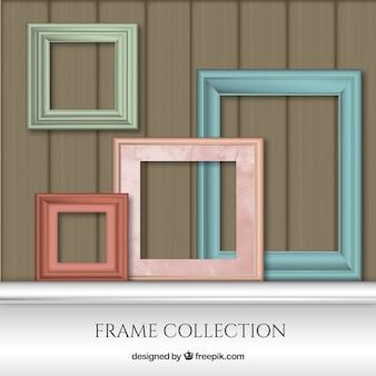 Raccolta photo frame di diversi colori