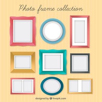 Рамка для фото коллекции в цветах