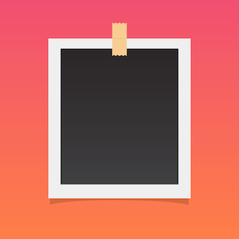 Photo frame on a gradient colorful background