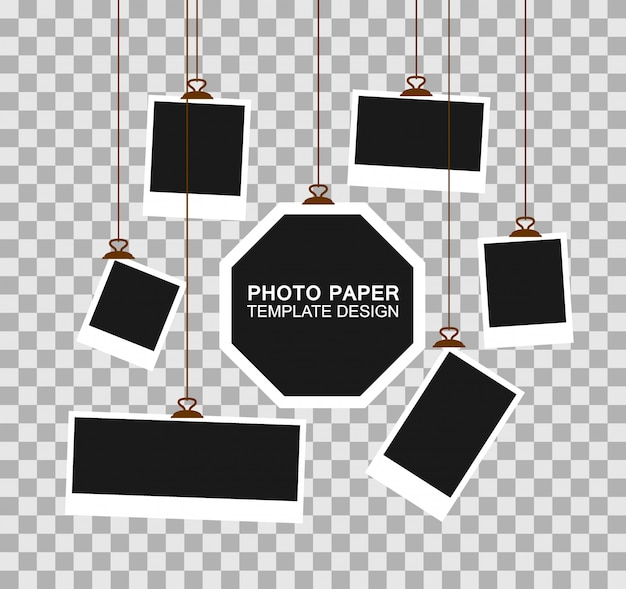 Photo frame paper template  .