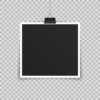Photo frame realistic template