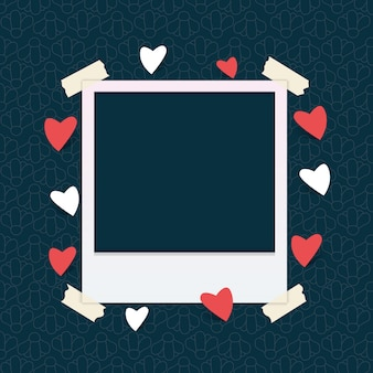 Photo frame template with heart