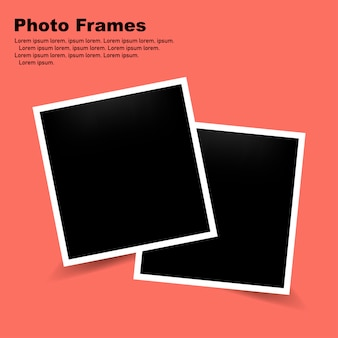 Photo frame on a trendy color