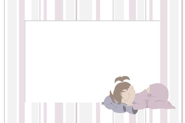 Photo frame with children's design for newborn