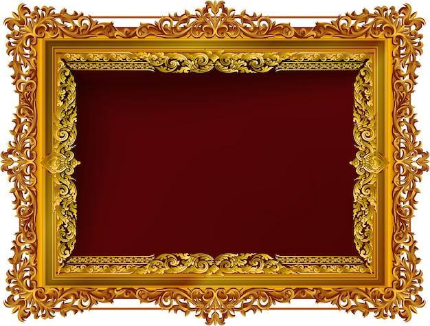 Photo frame with corner line floral