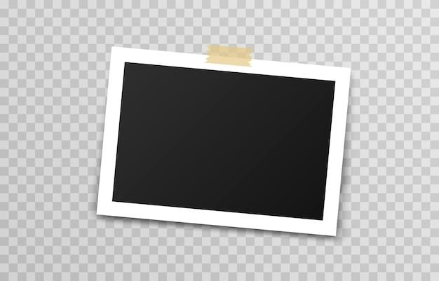 덕트 테이프를 가진 사진 프레임