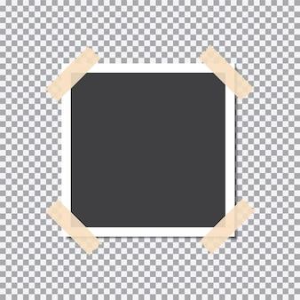 Фоторамка с липкой лентой на прозрачном фоне