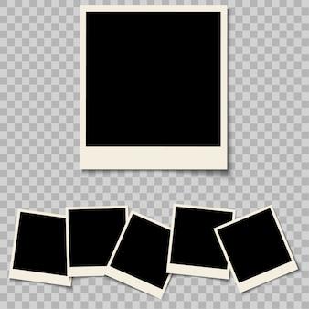 Photo frames blank isolated