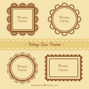 Photo frames collection of lace