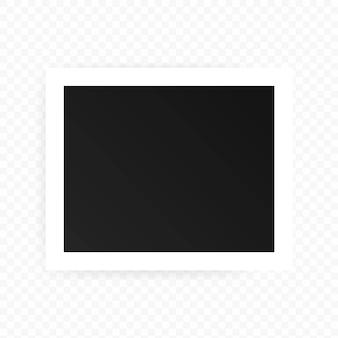 사진 프레임 아이콘입니다. 현실적인 사각형 블랙 프레임입니다. 그림, 그림에 대 한 템플릿입니다.
