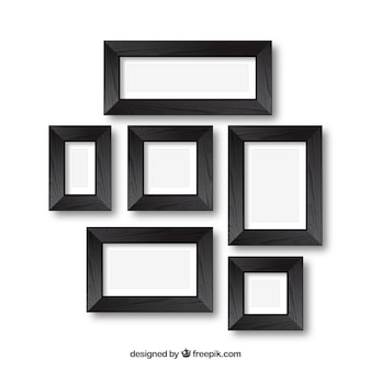 Photo frames in collage style