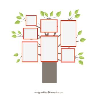Cornici per foto su albero