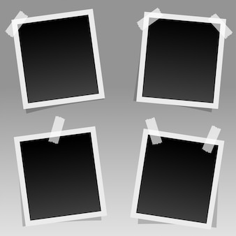 Photo frames with sticky tapes