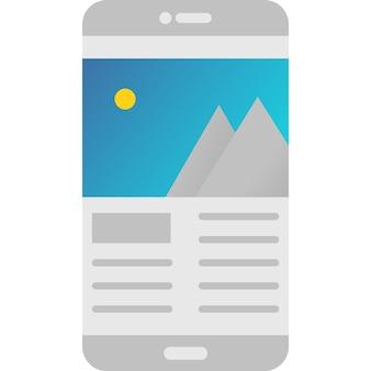 Значок вектора приложения мобильного телефона фотогалереи