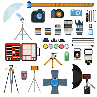 Photo icons vector collection