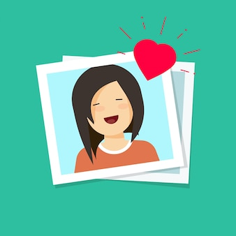Photo of love girl vector illustration flat cartoon