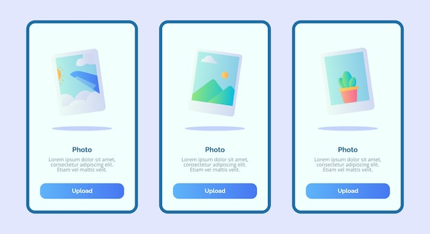Photo for mobile apps template banner page ui