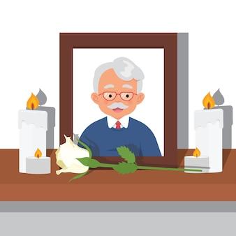 사망 한 할아버지의 사진