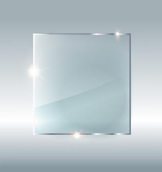コピースペースを持つ空白のガラスプレートの写真