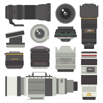 Photo optic lenses  set.