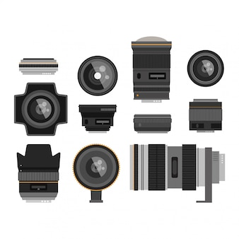Photo optic lenses set