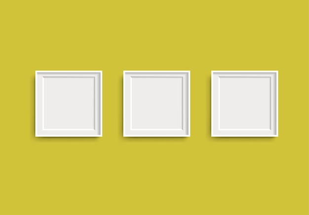 Photo picture frames with lime background