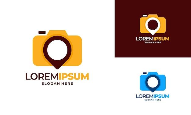 포토 스팟 로고 디자인 컨셉 벡터 일러스트, 사진 로고 디자인