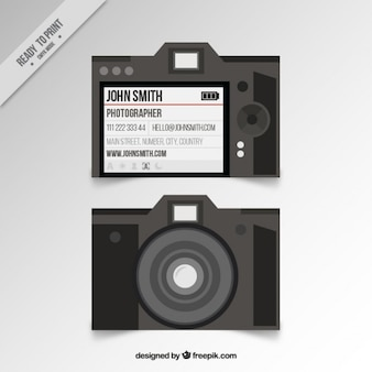 Photo studio card in flat design
