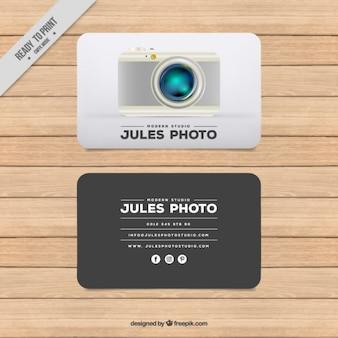 평면 디자인의 사진 스튜디오 카드