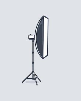 白い背景で隔離の写真スタジオ要素。