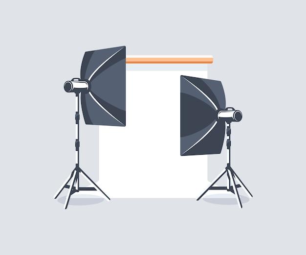 Photo studio element isolated.