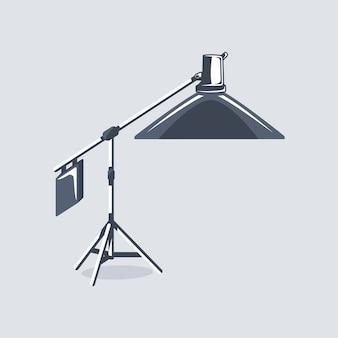 分離された写真スタジオ要素。