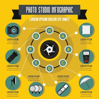 Photo studio infographic concept.